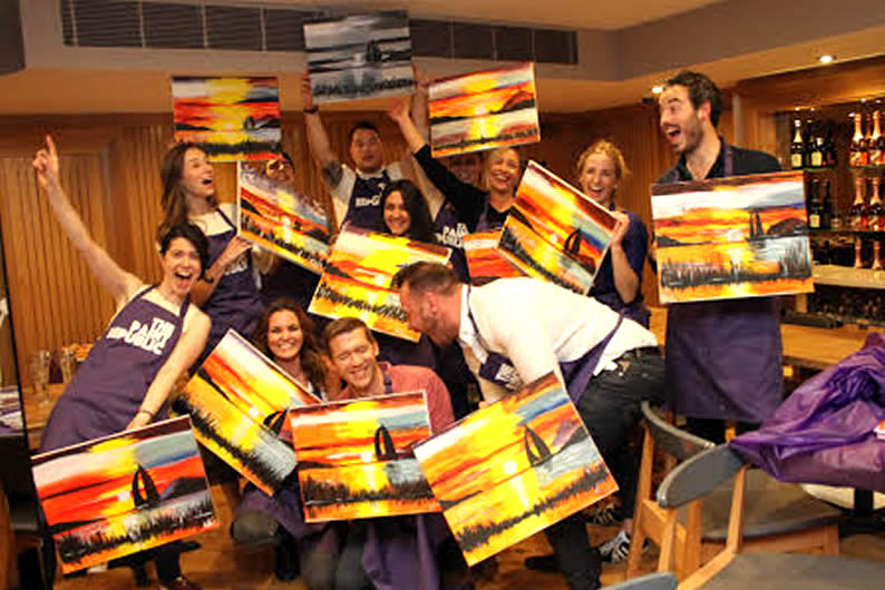 5) Attend A Paint & Sip Event At The Paint Republic